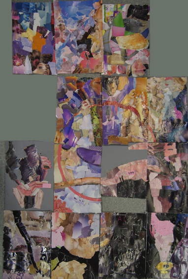 Collage segments produced during the workshop added together.