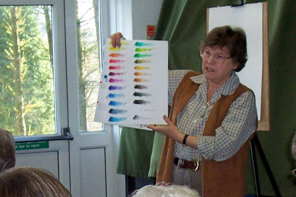 Well known artist and publisher Trudy Friend giving a talk on Sunday 21 October 2007.